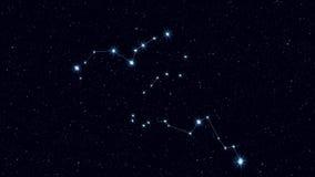 Eridanus constellation, gradually zooming rotating image