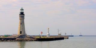 Erie basenowy latarni marina Fotografia Royalty Free