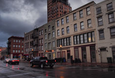 Erie boulevard Arkivbilder