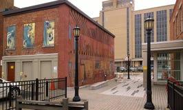 Erie bulwar w śródmieściu zdjęcia royalty free
