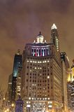 Erie Chicago Building. Erie Building at Night in Chicago Royalty Free Stock Images