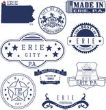 Erie city, PA, generic stamps and signs Royalty Free Stock Images