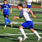Erie Commodores FC game action Royalty Free Stock Image