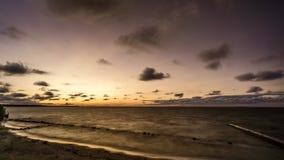 erie lake över solnedgång stock video