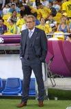 Erik Hamren, primo allenatore della squadra di football americano del cittadino della Svezia Immagine Stock Libera da Diritti