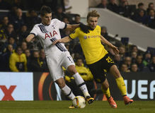 Erik Lamela and Marcel Schmelzer Stock Photos