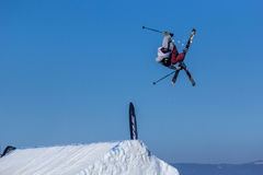 Erik Lundmark, sciatore svedese fotografia stock