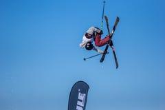 Erik Lundmark, Szwedzka narciarka Fotografia Royalty Free