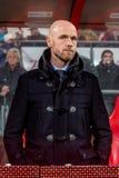 Erik ten Hag trainer coach FC Utrecht. NETHERLANDS, UTRECHT - March 18th 2016 at the Galgenwaard stadium during Dutch Eredivisie for FC Utrecht , FC Utrecht Stock Photo