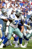 Erik Williams. Of the Dallas Cowboys in game action againist the New York Giants royalty free stock images