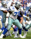 Erik Williams. Of the Dallas Cowboys in game action against the New York Giants royalty free stock image