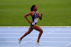 Erika Rucker  the bronze medalists of the 400 m. Royalty Free Stock Photography