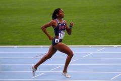 Erika Rucker le medaglie bronze dei 400 M. Fotografia Stock Libera da Diritti