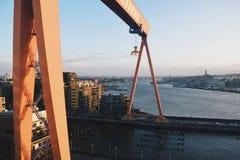 Eriksberg起重机 图库摄影