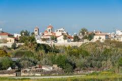 Erimi村庄,南塞浦路斯 免版税库存图片