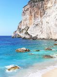 Erimitis beach Paxos island Greece Royalty Free Stock Image