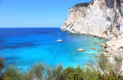 Erimitis beach Paxos island Greece Stock Images
