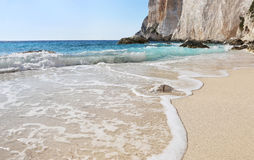 Erimitis beach Paxos island Greece stock photo