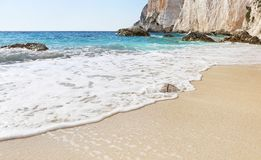 Erimitis beach Paxos island Greece stock image