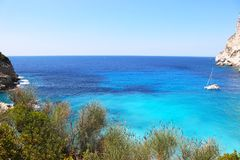 Erimitis beach Paxos island Greece Royalty Free Stock Photography