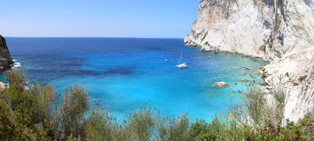 Erimitis beach Paxos island Greece Royalty Free Stock Photo
