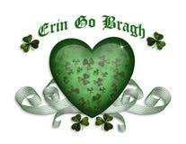 Erin gaat bragh St Patricks kaart Stock Fotografie