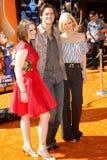 Erin Jane Carrey, Jim Carrey y Jenny McCarthy foto de archivo libre de regalías