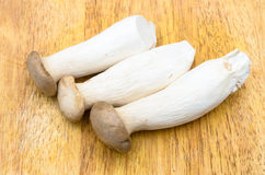 Eringii Mushrooms on the chopping block Stock Images