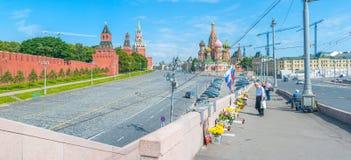 Erinnern an Boris Nemtsov Stockfoto