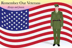 Erinnern Sie sich an unsere Veterane stockbild