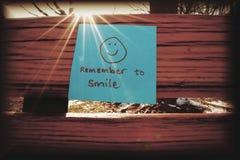 Erinnern Sie sich zu lächeln Stockfotos
