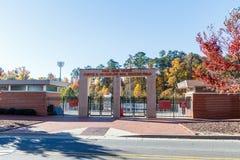 Erinnerungs-Belltower an NC-staatlicher Universität stockfotos