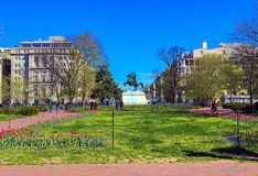 ERINNERUNGS-LAFAYETTE PARK ANDREW JACKSONS, WASHINGTON DC lizenzfreie stockbilder