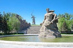 Erinnerungs-Mamayev Mamaev kurgan stockfotos