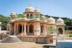 Erinnerungsboden zu Maharadscha Sawai Mansingh II, Jaipur, Rajasthan, Indien. Lizenzfreie Stockfotos