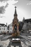 Erinnerungsbrunnen Atholl am Marktplatz in Dunkeld, Perth a Stockfotografie