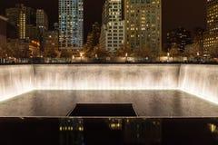 Erinnerungsbrunnen, World Trade Center Lizenzfreie Stockbilder
