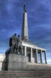Erinnerungsgrenzstein für gefallene Soldaten des Weltkriegs Stockfotografie