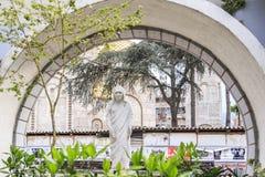 Erinnerungshaus von Mutter Teresa in Skopje lizenzfreies stockfoto