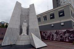 Erinnerungskomplex eingeweiht dem Gedächtnis von Angestellten von Körpern der inneren Angelegenheiten der Nischni Nowgorod Region stockfotos