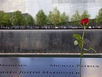 9/11 Erinnerungspark Stockbild