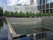 911 Erinnerungspool, Manhattan, NYC stockbilder
