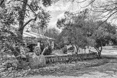 Erinnerungssammlung und Museum Verwoerd in Orania einfarbig stockbild