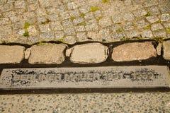 Erinnerungssteinplatten Berlin Walls Stockbild