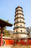 Erinnerungsszene tempels Jinci (Museum). Fengsheng-Tempel. Lizenzfreie Stockbilder