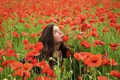 Erinnerungstag, Anzac Day Schönheits-Mode-Modell Girl Art und Weiseblick lizenzfreie stockfotografie