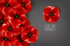 Erinnerungstag - 11. November - aus Furcht, dass wir vergessen Stockbilder