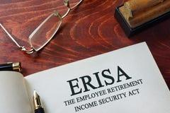 ERISA el acto de la seguridad del ingresos de jubilación del empleado imagen de archivo libre de regalías