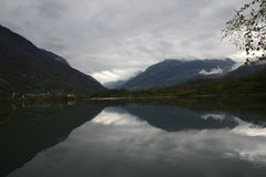 Eriste lake a cloudy morning in april a place to sit down and enjoy Royalty Free Stock Photography