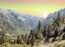 Free Eriste Valley At Sunset Stock Image - 34898521